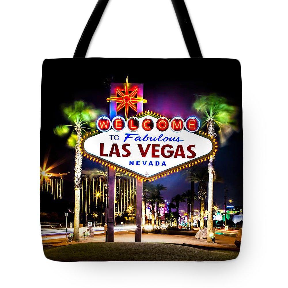 Las Vegas Tote Bag featuring the photograph Las Vegas Sign by Az Jackson