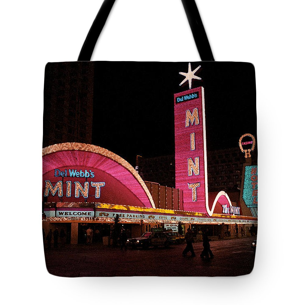 America Tote Bag featuring the photograph Las Vegas With Watercolor Effect by Frank Romeo