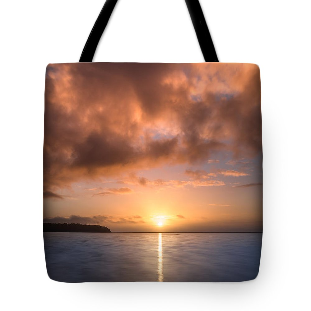 Big Lagoon Tote Bag featuring the photograph Last Rays Of The Sun by Greg Nyquist
