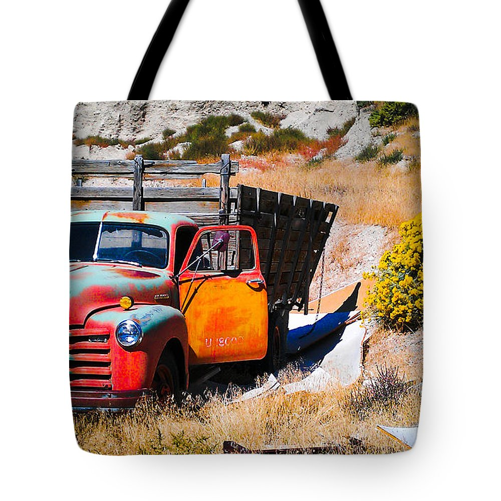 Truck Tote Bag featuring the photograph Last Stop by Robert Lowe