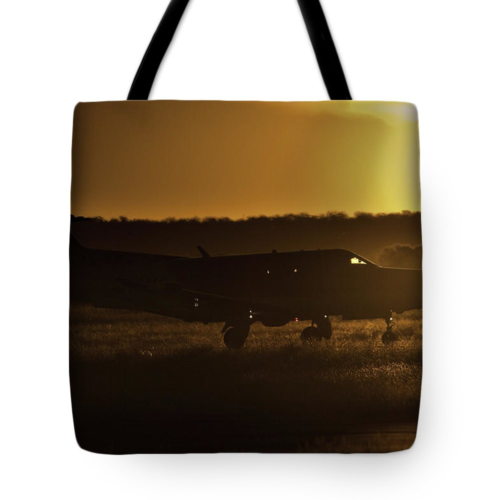 Pilatus Pc 12. Golden Eagle Tote Bag featuring the photograph Late Afternoon Mercy by Paul Job