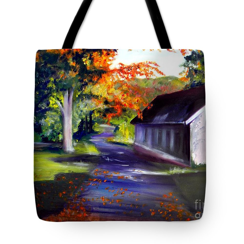 Fall Tote Bag featuring the painting Late Afternoon Sun by Sandy Ryan