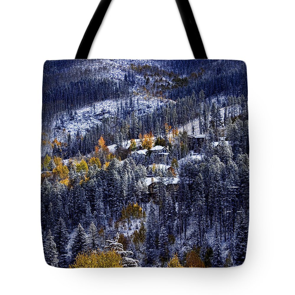 Vail Tote Bag featuring the photograph Late Fall In Vail by Ellen Heaverlo