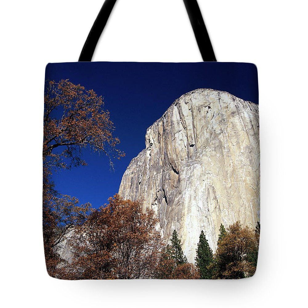 Color Image Tote Bag featuring the photograph Late Light On Face Of El Capitan by Gerry Ellis