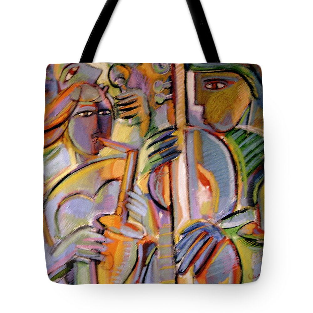 Whimsical Tote Bag featuring the painting Late Night Jam by Gerry High