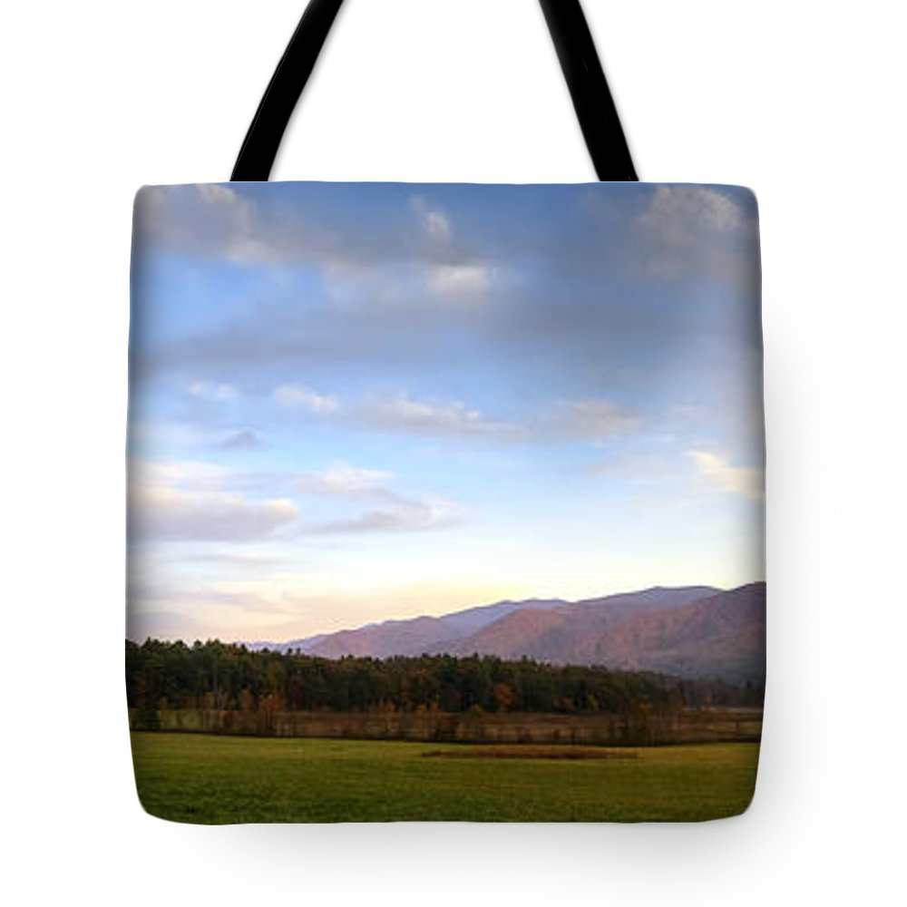 Cades Cove Tote Bag featuring the photograph Late October Dusk At Cades Cove by Steve Samples
