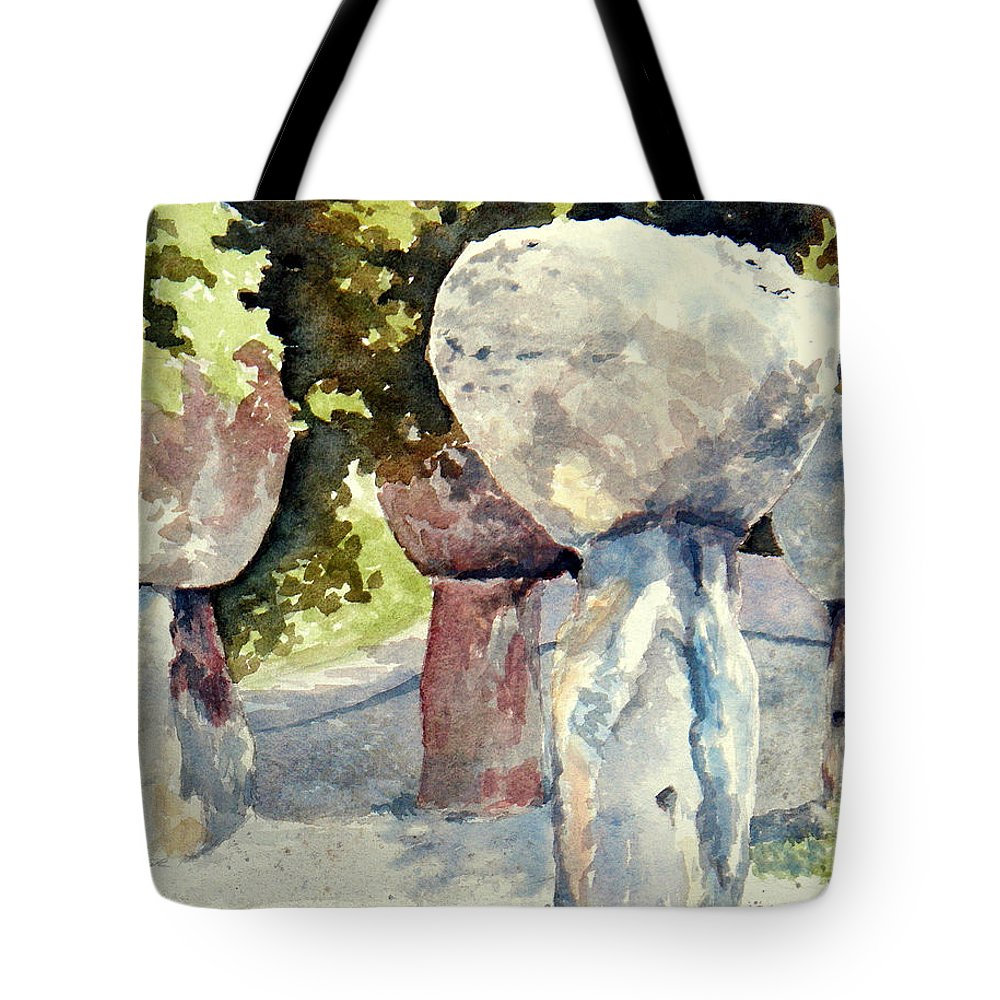 Landscape Tote Bag featuring the painting Latte Stone by Lisa Pope
