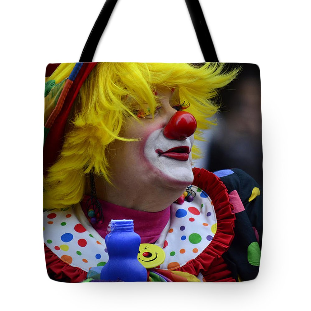 Street Photography Tote Bag featuring the photograph Laughter Bubbles by The Artist Project