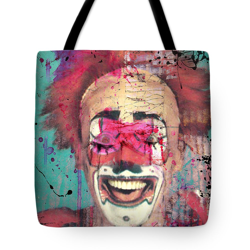 Clown Tote Bag featuring the photograph Laughter I Purge by The Artist Project
