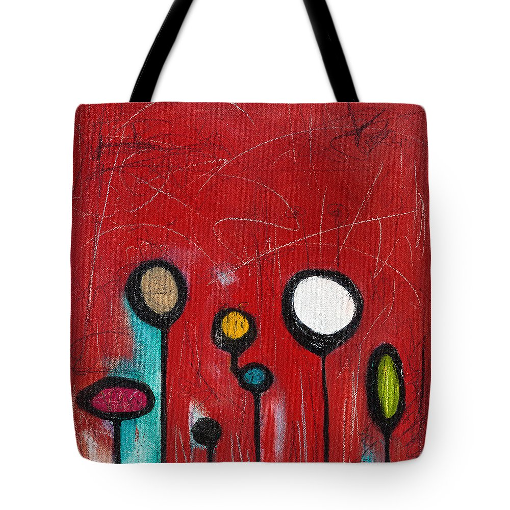 Abstract Tote Bag featuring the painting Lava Pop by Shakti Kroopkin