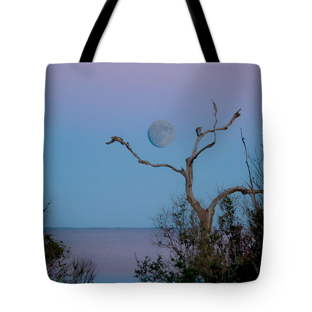 Lavendar Tote Bag featuring the photograph Lavendar Moon by Paula OMalley