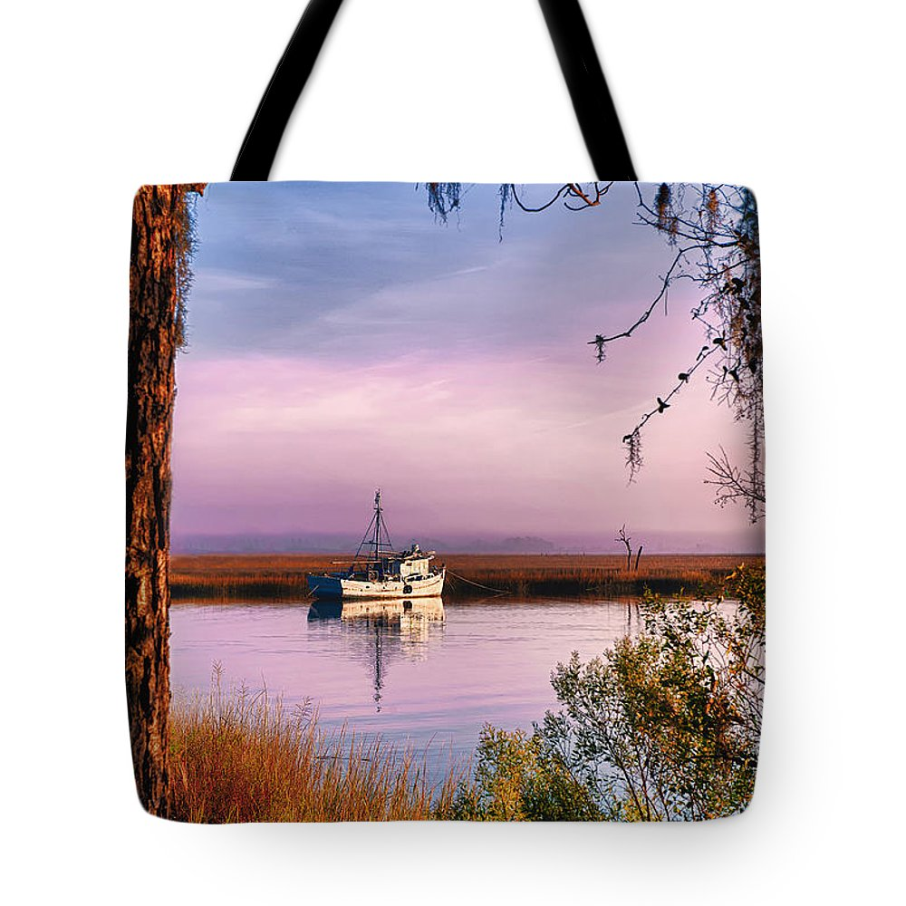 Savannah Tote Bag featuring the photograph Lavender Light Reflections by Renee Sullivan