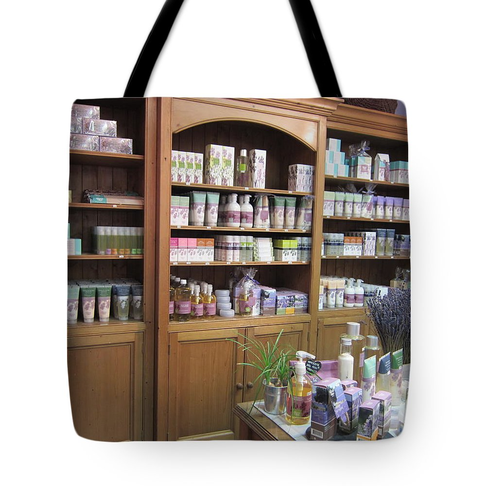 Lavender Tote Bag featuring the photograph Lavender Museum Shop 1 by Pema Hou