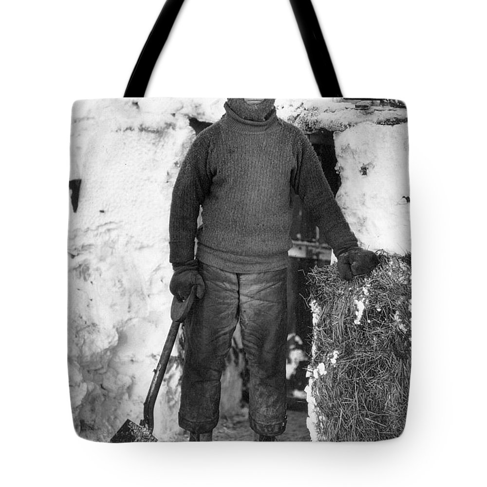 1910 Tote Bag featuring the photograph Lawrence Oates (1880-1912) by Granger