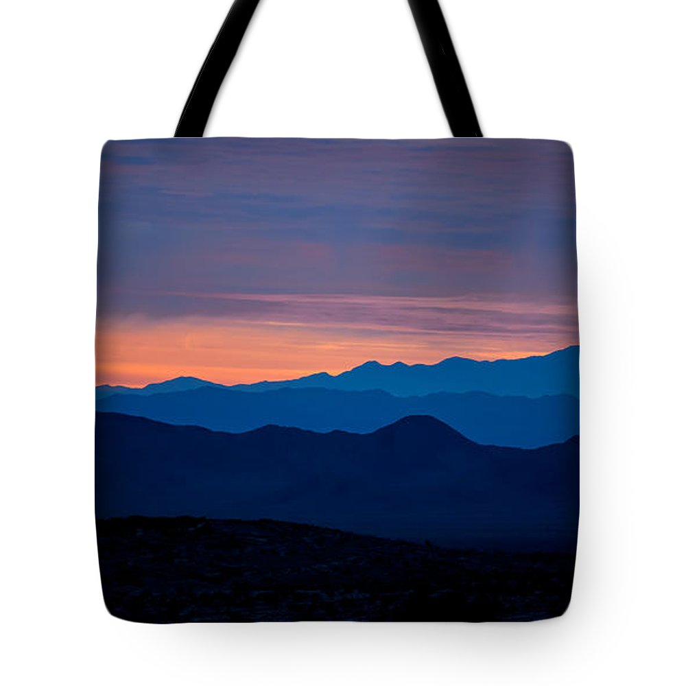 Big Sky Tote Bag featuring the photograph Layers - The Mojave IIi by Peter Tellone
