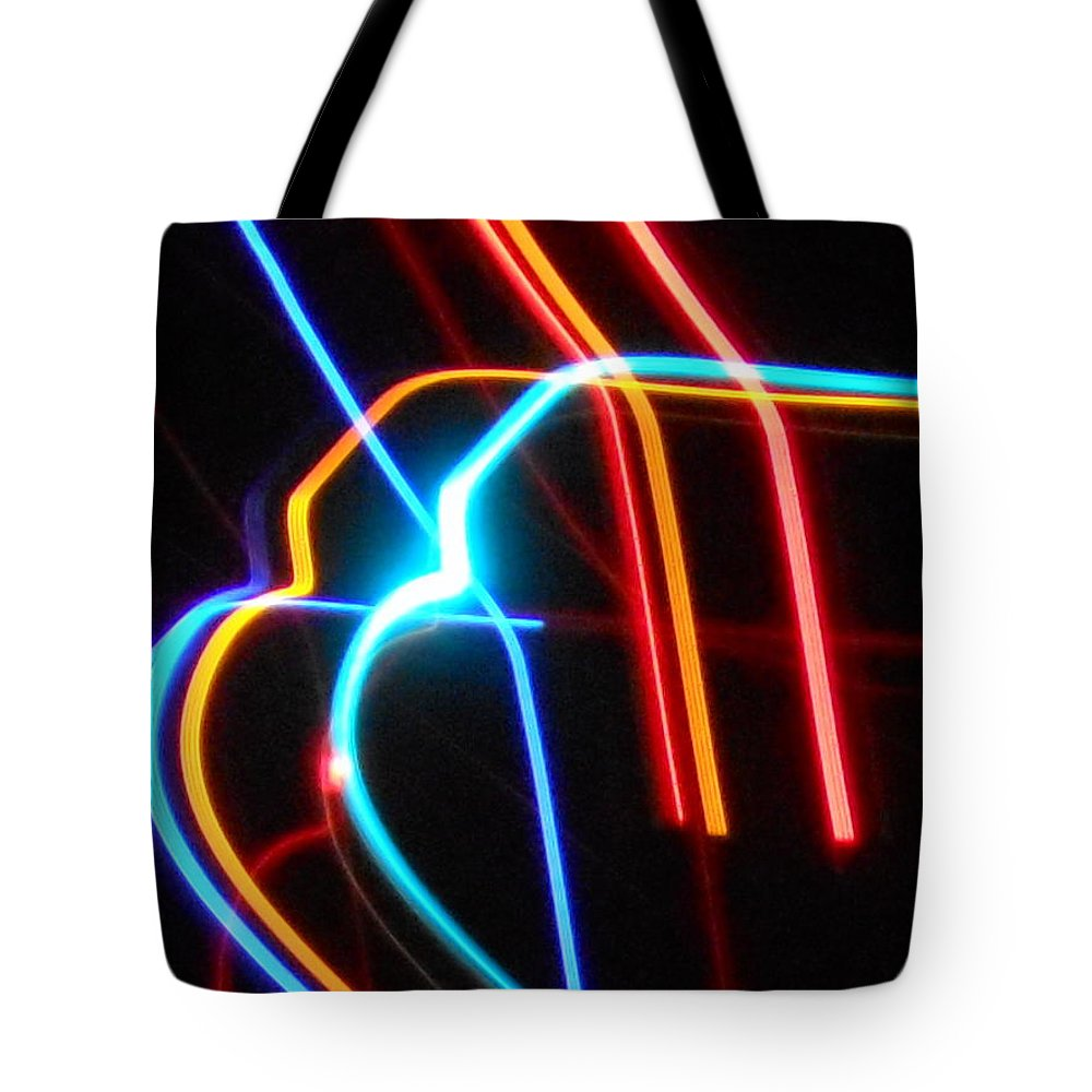 Experimental Tote Bag featuring the photograph Lazer Fusion No. 7 by James Welch