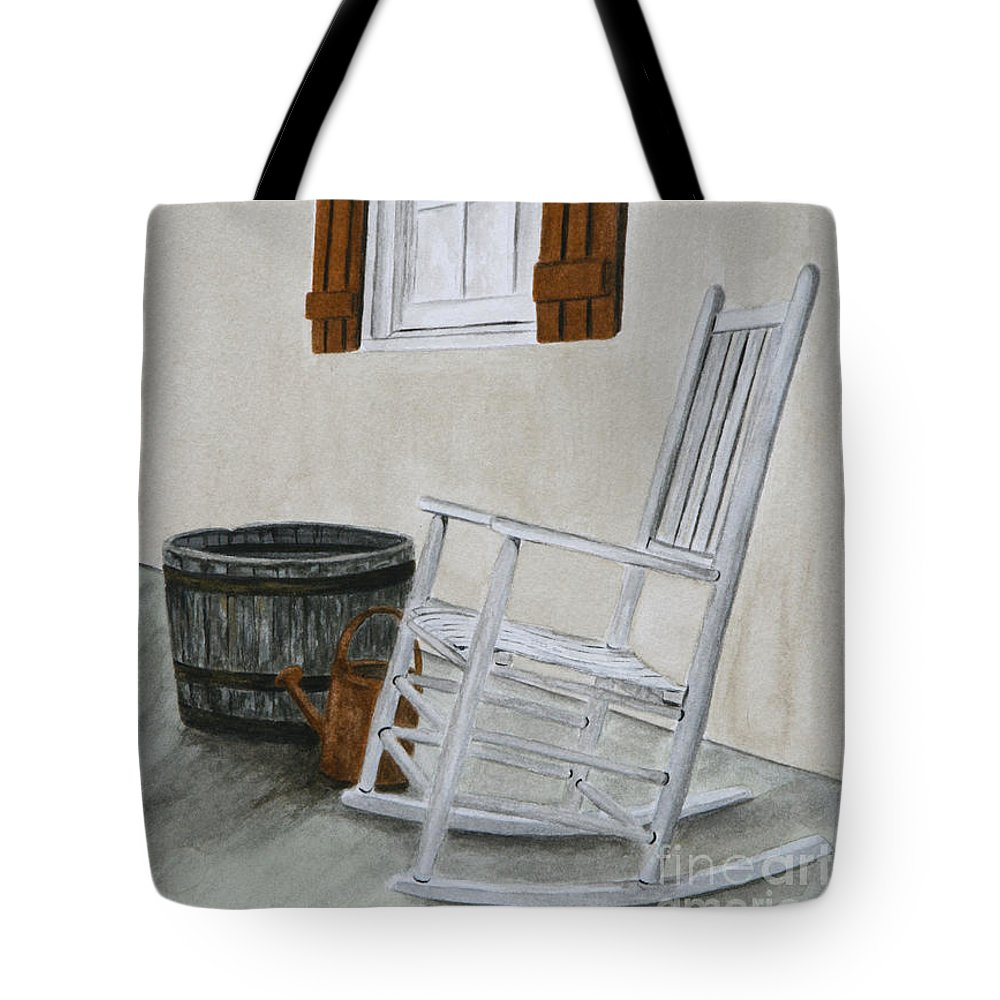 Americana Tote Bag featuring the painting Lazy Day by Regan J Smith