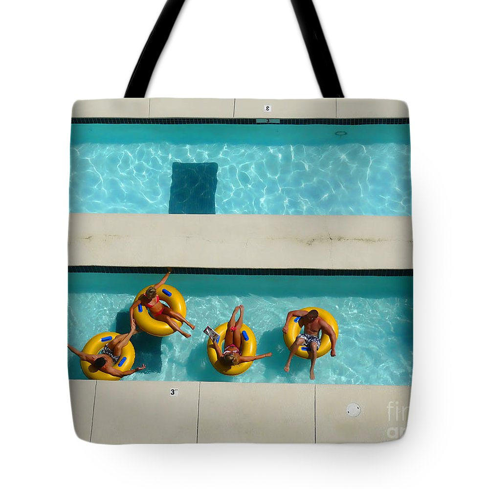 Lazy River Tote Bag featuring the photograph Lazy River by Jeff Breiman