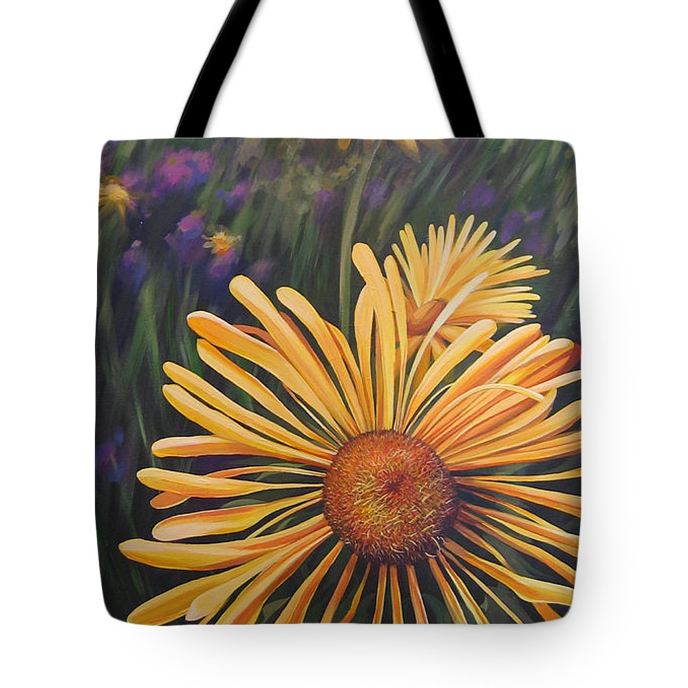 Wildflowers Tote Bag featuring the painting Lazy Sunday by Hunter Jay