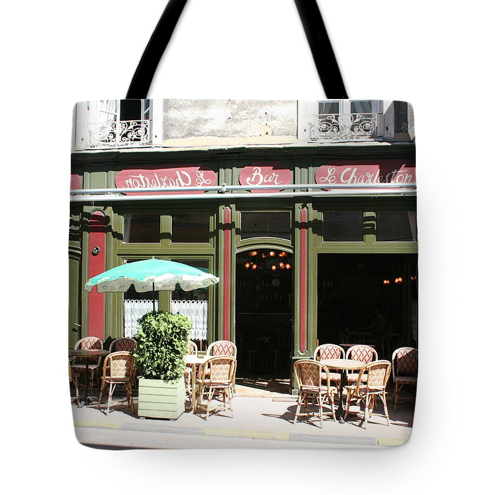 Bistro Tote Bag featuring the photograph Le Charleston Bar In Tournus by Christiane Schulze Art And Photography