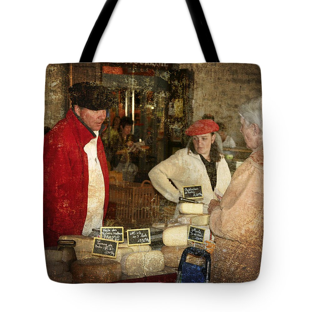 Cheese Tote Bag featuring the photograph Le Mercant De Fromage Revel France Img7482 by Greg Kluempers