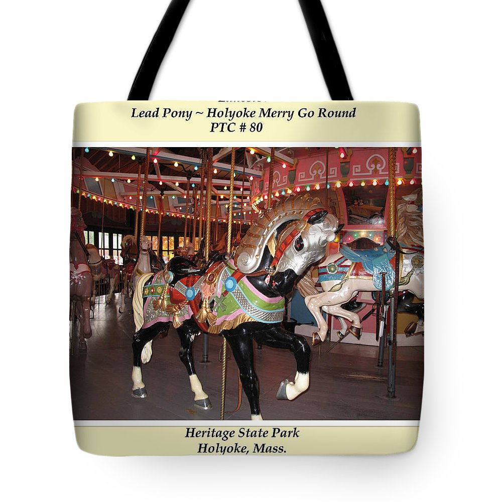 Carousel Horse Tote Bag featuring the photograph Lead Pony by Barbara McDevitt
