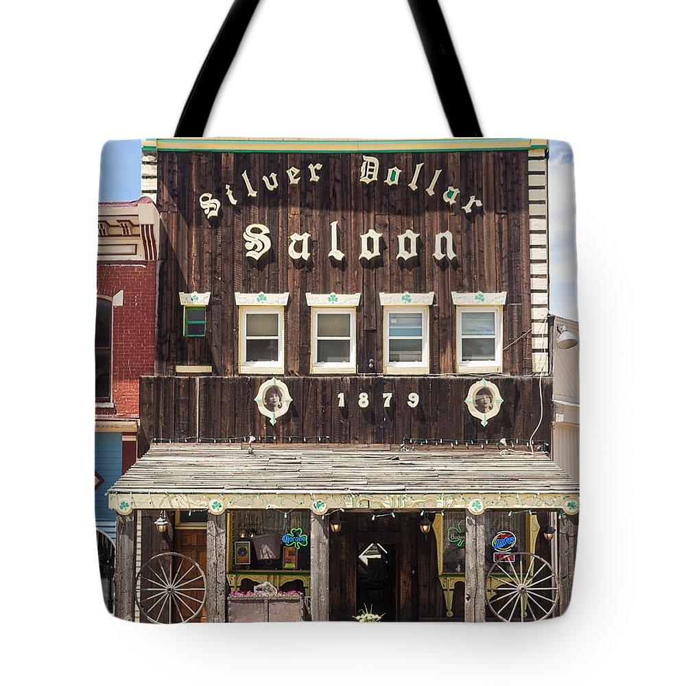 Buildings Tote Bag featuring the photograph Leadville Saloon by Robert VanDerWal