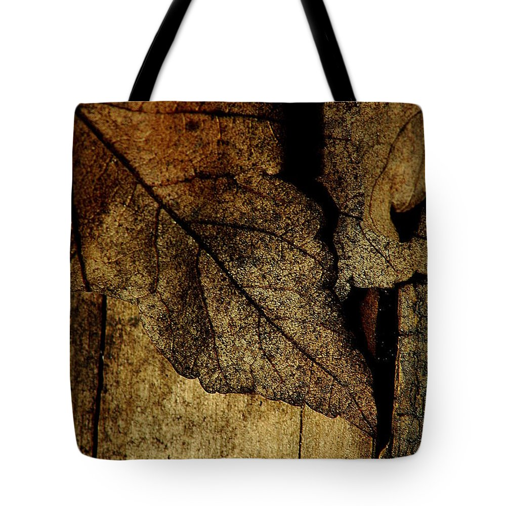 Leaf Tote Bag featuring the photograph Leafwood by David Weeks