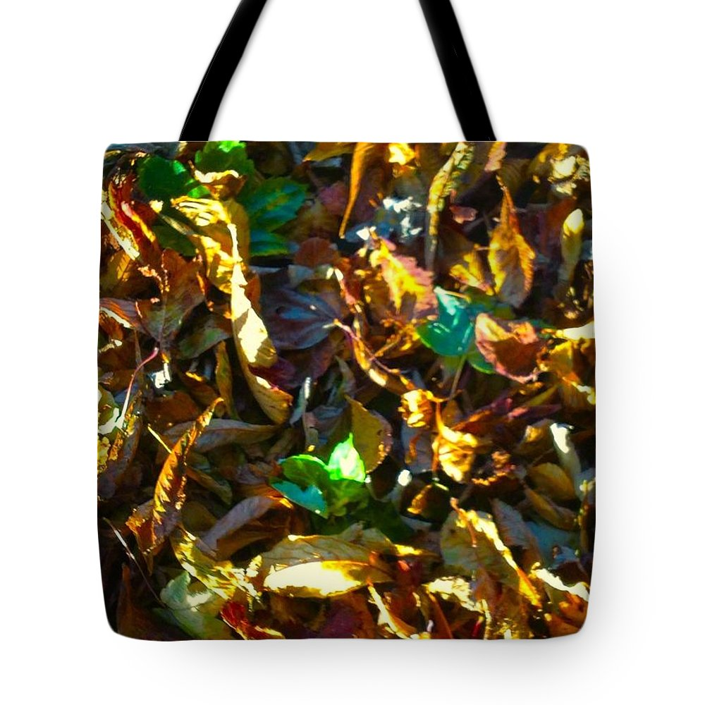 Leaves Tote Bag featuring the photograph Leafy Image by Joan-Violet Stretch
