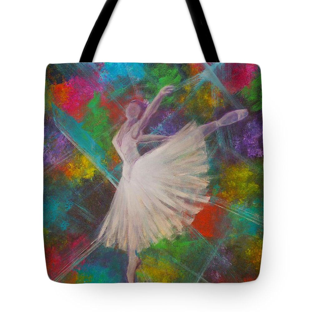 Modern Tote Bag featuring the painting Leap Into Color by The Art With A Heart By Charlotte Phillips