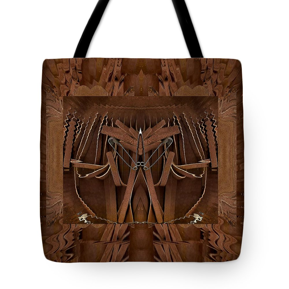 ff99d957f18e Leather Tote Bag featuring the mixed media Leather Man In A Leather Collage  by Pepita Selles
