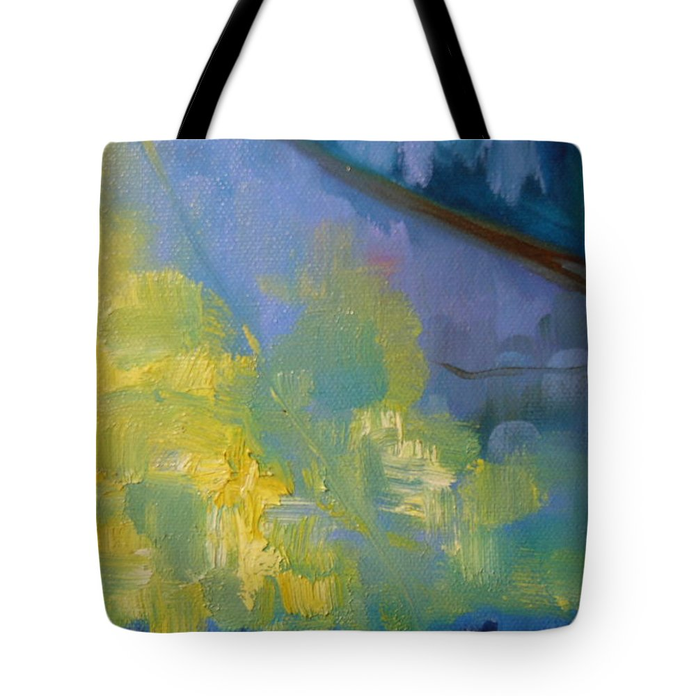 Water Tote Bag featuring the painting Leaves 3 by Lord Frederick Lyle Morris - Disabled Veteran