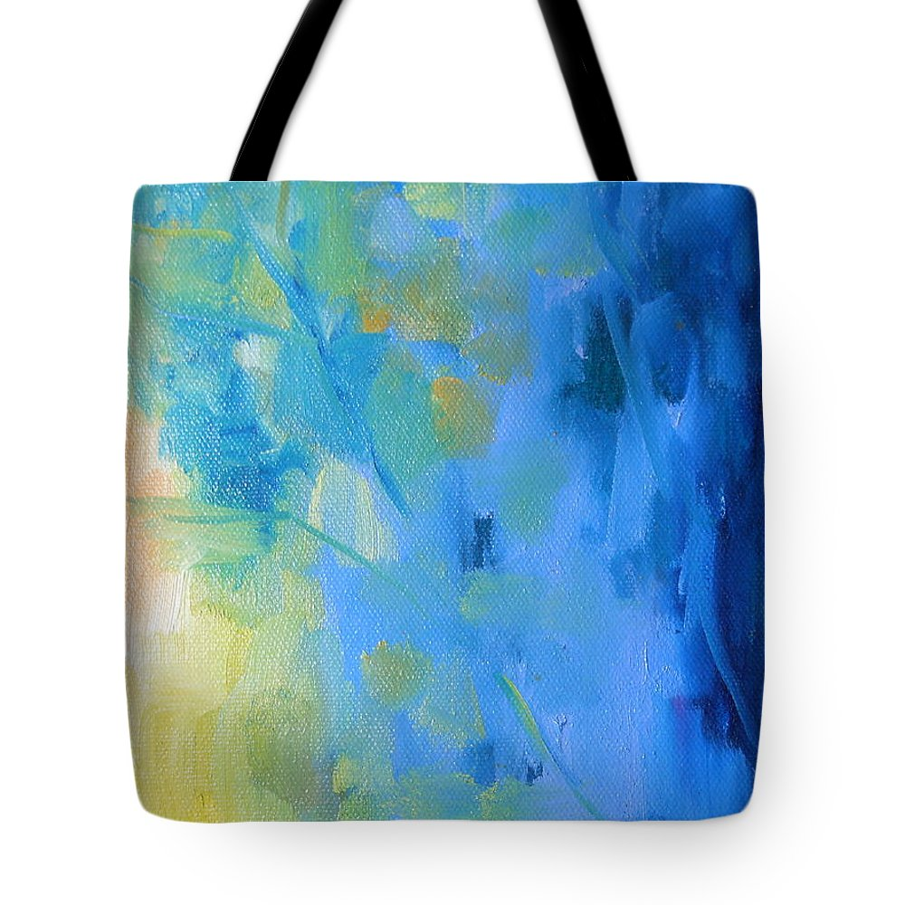 Water Tote Bag featuring the painting Leaves by Lord Frederick Lyle Morris - Disabled Veteran