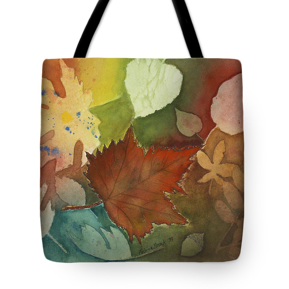 Leaves Tote Bag featuring the painting Leaves Vl by Patricia Novack