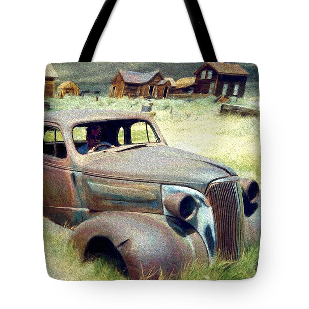 Photography Tote Bag featuring the digital art Leaving Bodie by Snake Jagger