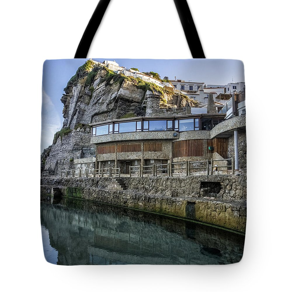 Water Tote Bag featuring the photograph Ledge Reflections by Jose Bispo