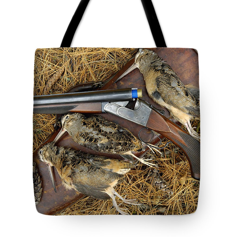 Three Tote Bag featuring the photograph Lefever And Timberdoodle - D004023 by Daniel Dempster