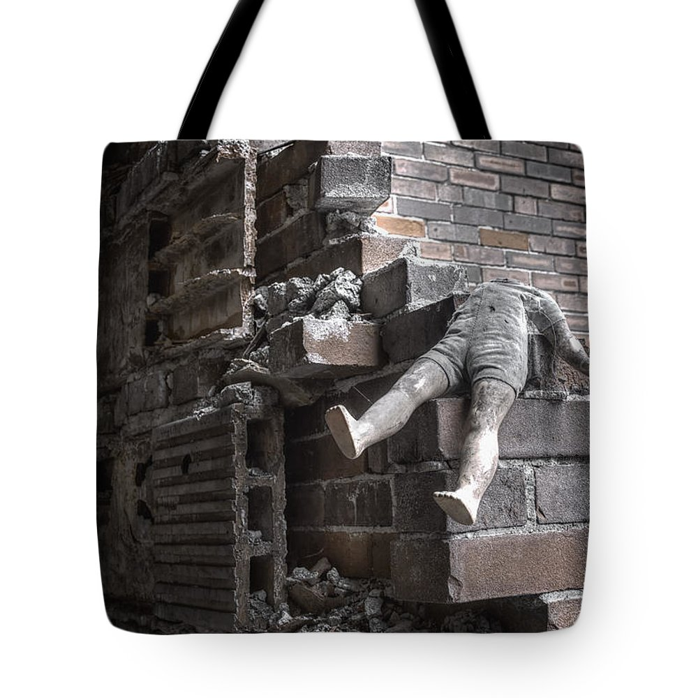 Headless Tote Bag featuring the photograph Left Alone by Margie Hurwich