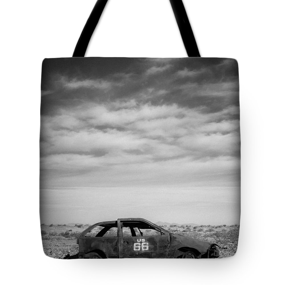 Route Tote Bag featuring the photograph Left Behind by Jayme Spoolstra