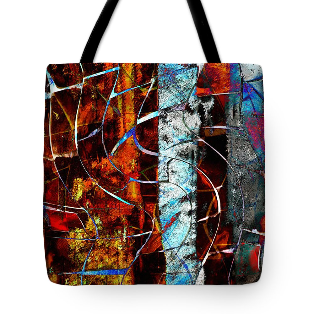 Abstract Tote Bag featuring the digital art Legacy by Nola Lee Kelsey