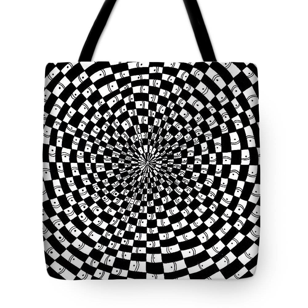 Abstract Tote Bag featuring the drawing Legend Of An Abstract Artist by Crystal Hubbard