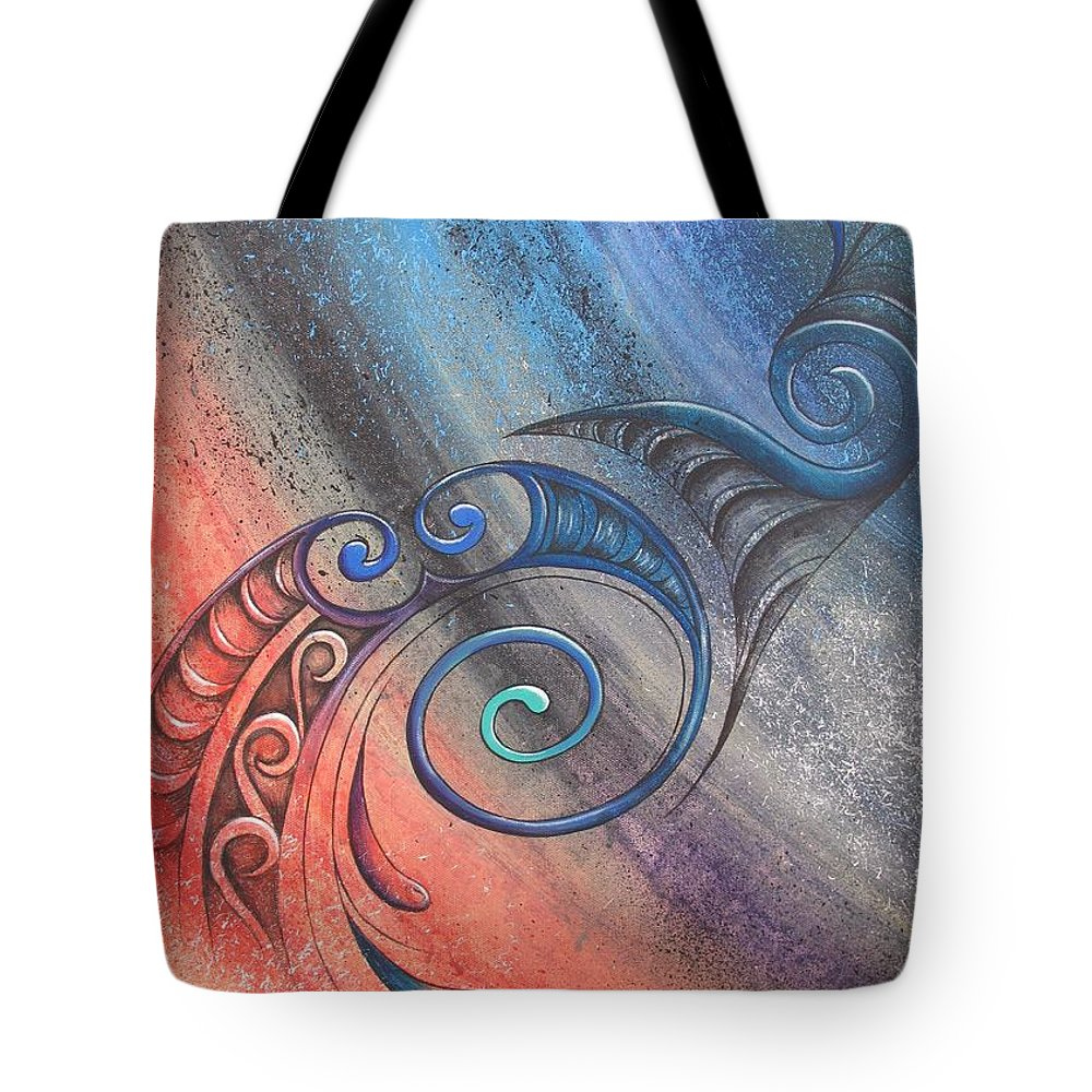 Legend Tote Bag featuring the painting Legend Toru by Reina Cottier