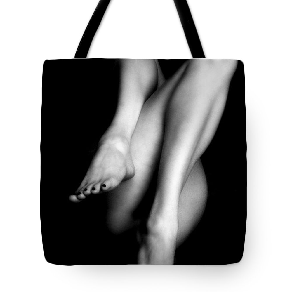 Nude Tote Bag featuring the photograph Legs by Lindsay Garrett