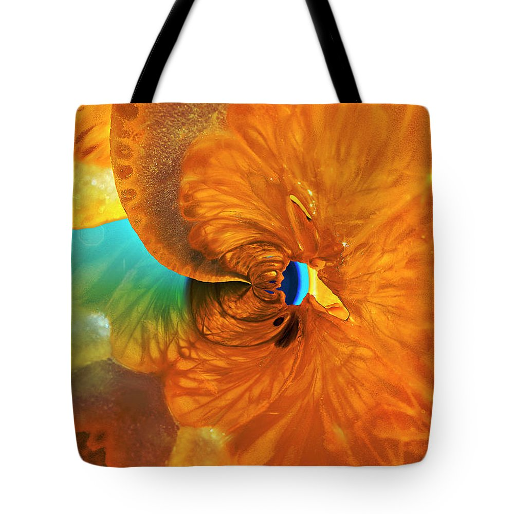 Lemon Tote Bag featuring the photograph Lemonade With A Twist by Angela Stanton