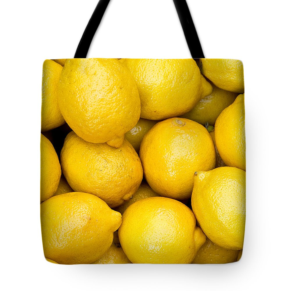 Lemons Tote Bag featuring the photograph Lemons 02 by Rick Piper Photography
