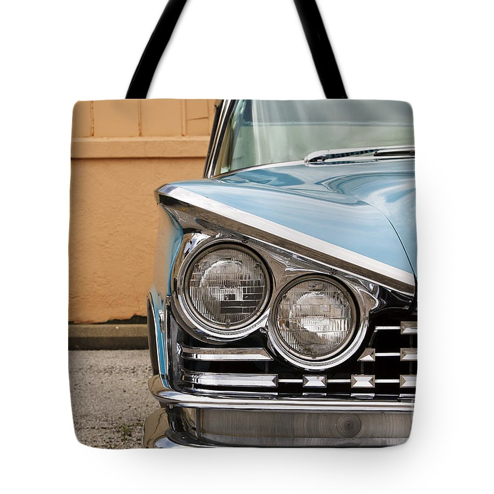 1959 Buick Tote Bag featuring the photograph Lesabre by Dennis Hedberg