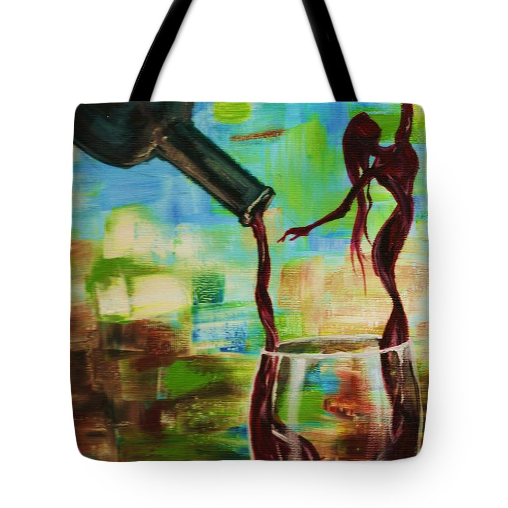 Woman Tote Bag featuring the painting Let It Breathe by Lisa Owen-Lynch