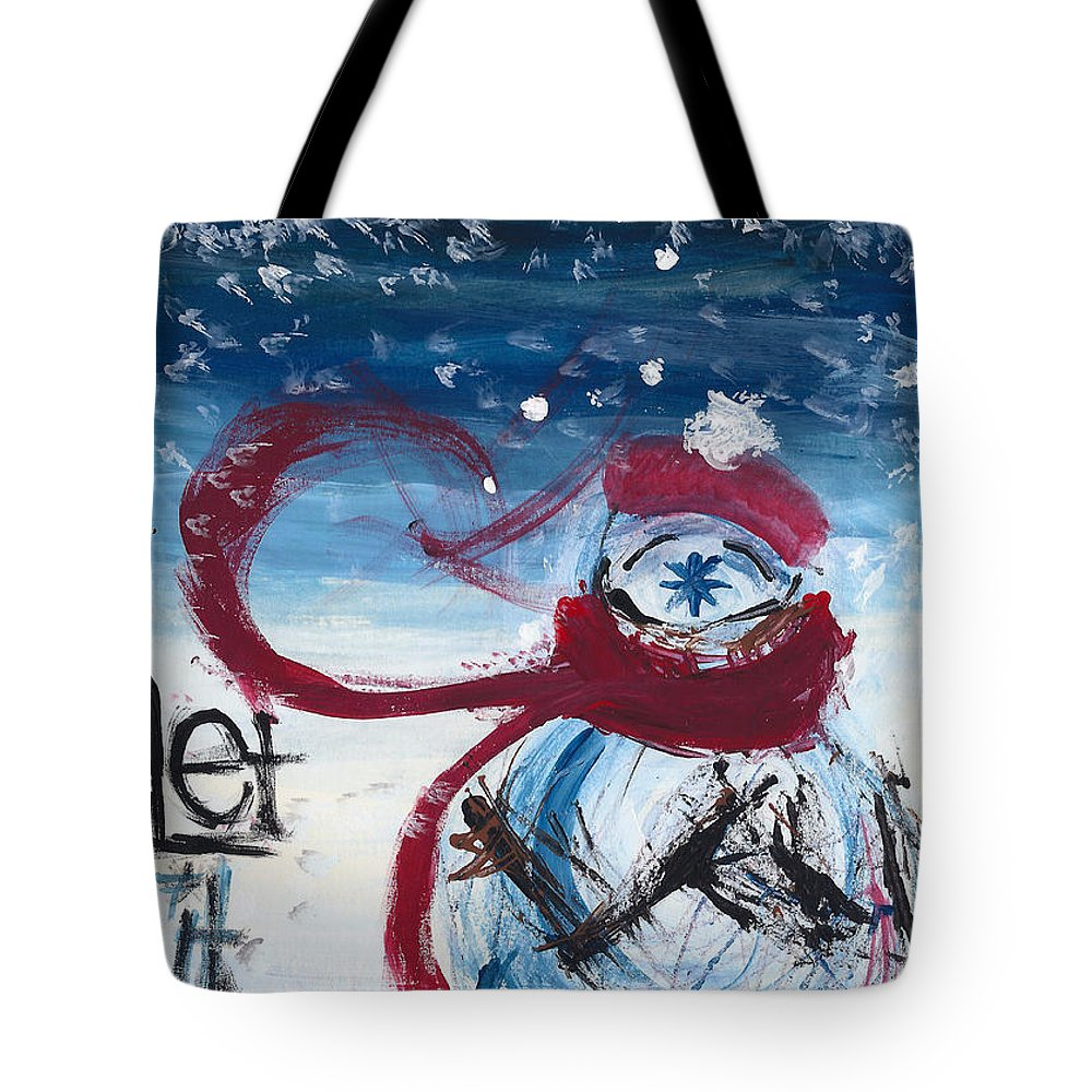 Snow Tote Bag featuring the painting Let It Snow Version One by Molly Picklesimer