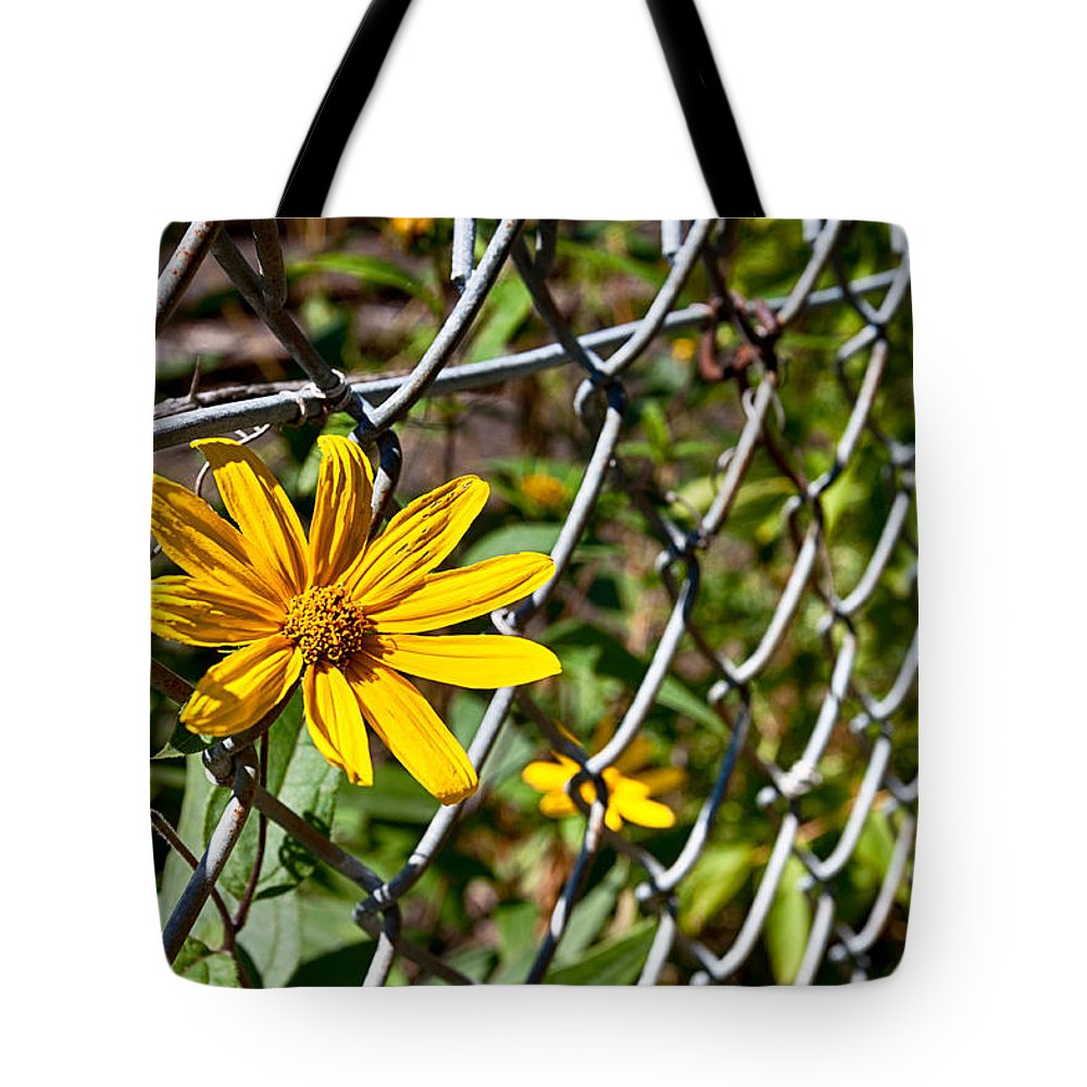 Flower Tote Bag featuring the photograph Let Me Out by Lauri Novak