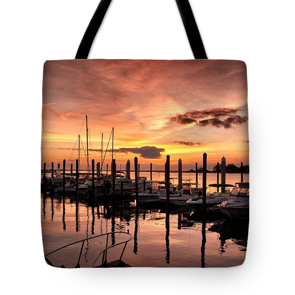 Sunrise Tote Bag featuring the photograph Let Your Light Shine by Phil Mancuso